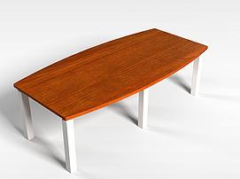 长形木桌子3d模型