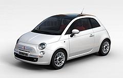 白色菲亚特汽车模型3d模型