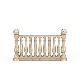 楼梯护栏配件3d模型