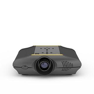 微型投影仪3d模型