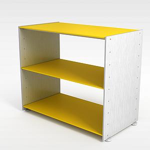 3d黃色<font class='myIsRed'>展柜</font>模型