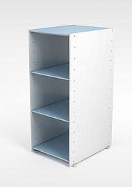 蓝色商品柜3d模型