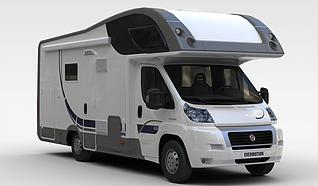 3d菲亚特(FIAT)C型房车模型