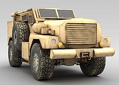军事卡车模型3d模型