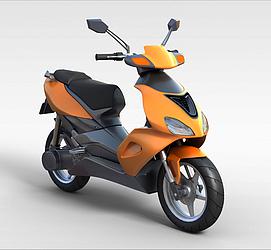 3d黄色<font class='myIsRed'>摩托车</font>模型