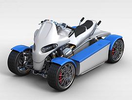 3d四驱<font class='myIsRed'>摩托车</font>模型