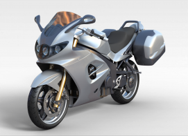 3d灰色<font class='myIsRed'>摩托车</font>模型