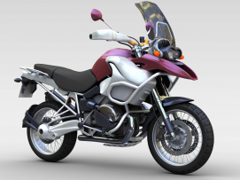 3d两轮<font class='myIsRed'>摩托车</font>模型