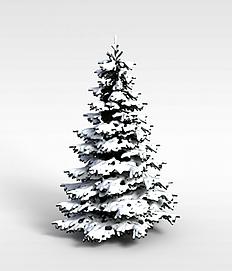 3d挂雪<font class='myIsRed'>圣诞树</font>模型