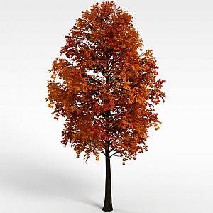 3d黃色<font class='myIsRed'>葉子</font>景觀樹模型