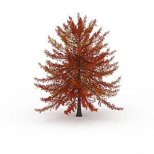 3d紅色<font class='myIsRed'>葉子</font>樹木模型