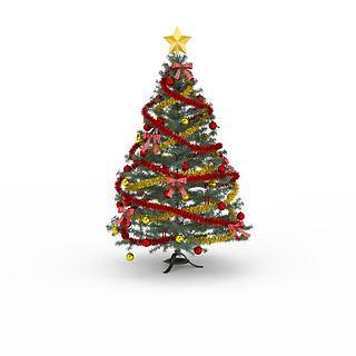 彩带<font class='myIsRed'>圣诞</font>树3d模型