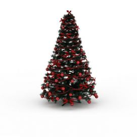 红色彩球<font class='myIsRed'>圣诞树</font>3d模型