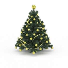 黄色球<font class='myIsRed'>圣诞树</font>3d模型