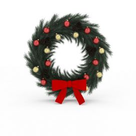3d<font class='myIsRed'>圣诞</font>花环模型