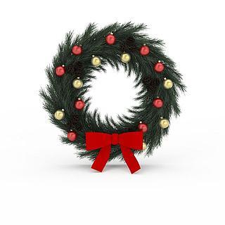 <font class='myIsRed'>圣诞</font>花环3d模型