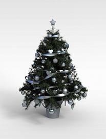 3d白色装饰球<font class='myIsRed'>圣诞树</font>模型
