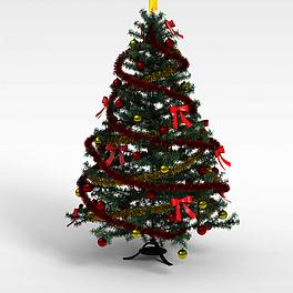 彩带圣诞树3D模型