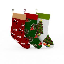 3d<font class='myIsRed'>圣诞</font>袜子模型