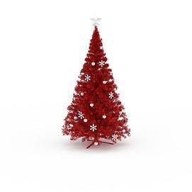 红色仿真<font class='myIsRed'>圣诞树</font>3d模型