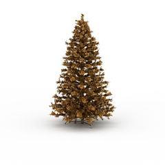 黄色圣诞树模型3d模型
