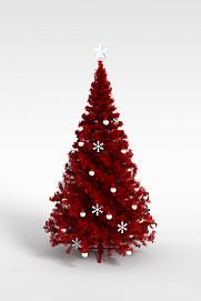 3d红色仿真<font class='myIsRed'>圣诞树</font>模型