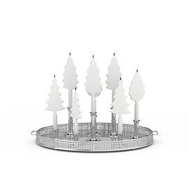 3d<font class='myIsRed'>圣诞树</font>蜡烛模型