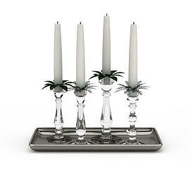 3d白色<font class='myIsRed'>圣诞</font>蜡烛模型