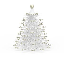 白色仿真<font class='myIsRed'>圣诞树</font>3d模型