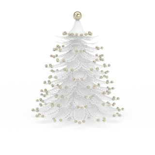 白色仿真<font class='myIsRed'>圣诞</font>树3d模型