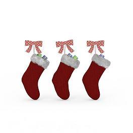 红色圣诞袜3D模型