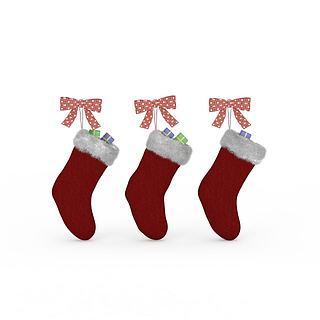 红色<font class='myIsRed'>圣诞</font>袜3d模型