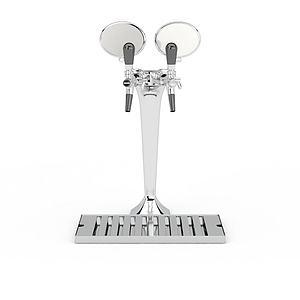 白色金屬啤酒機模型3d模型