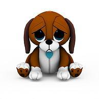 灰色小狗玩具3D模型3d模型