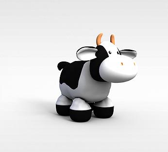 花奶牛玩偶