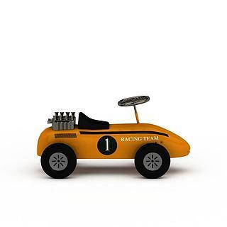 卡通车玩具3d模型