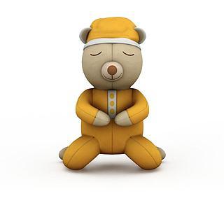 黄色卡通玩具3d模型