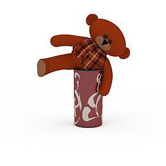 卡通熊玩具模型3d模型