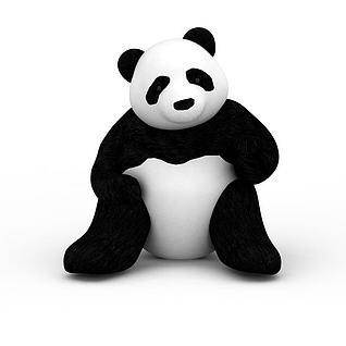 熊猫玩具3d模型