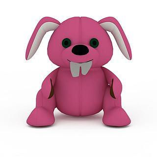 粉色<font class='myIsRed'>狗</font>玩具3d模型