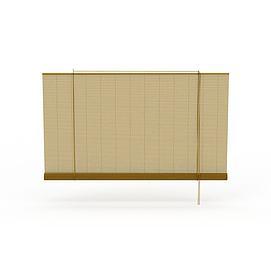竹制卷帘3d模型