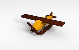 木质儿童<font class='myIsRed'>飞机</font>3d模型