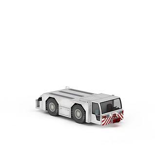 白色客梯车3d模型