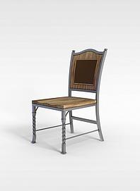 欧式实木椅子3d模型