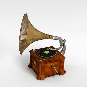 复古留声机模型