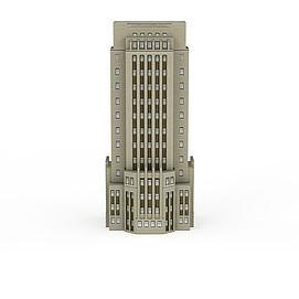米色写字楼3d模型