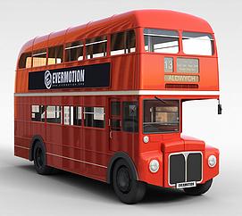 双层公共<font class='myIsRed'>汽车</font>3d模型