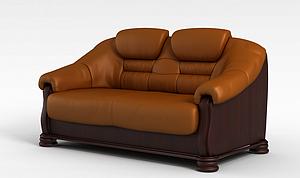 3d<font class='myIsRed'>皮质沙发</font>模型