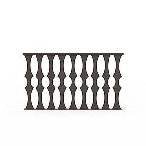 黑色花紋護欄模型3d模型