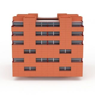 高层居民楼3d模型